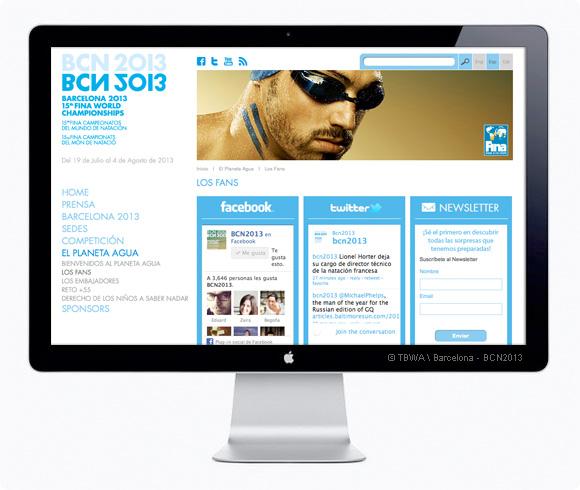 Website Mundiales de Natación BCN2013