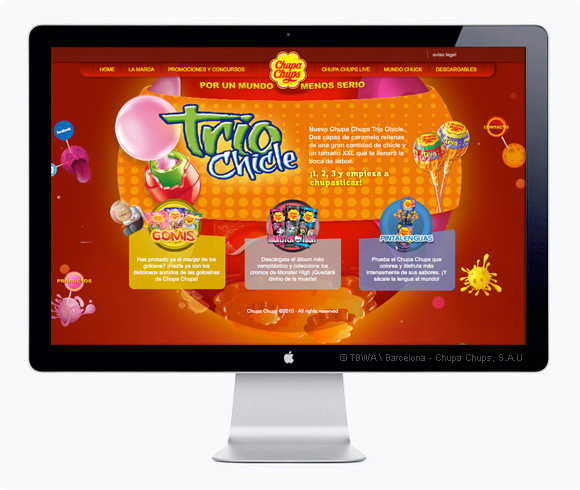 Website corporativo Chupa Chups